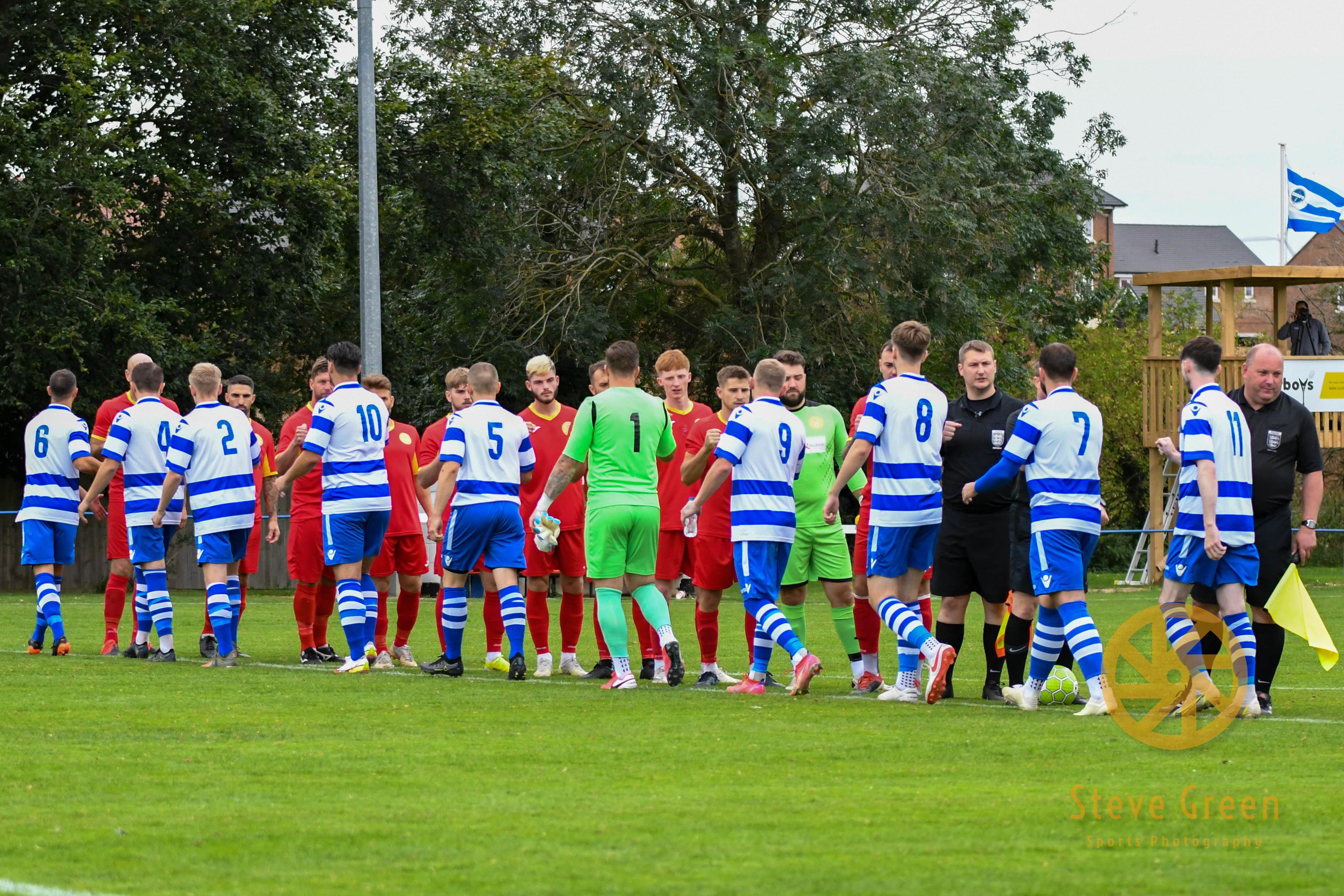 Photos from Royal Wootton Bassett Town's 1-0 away win at Shrivenham (Credit: Steve Green)