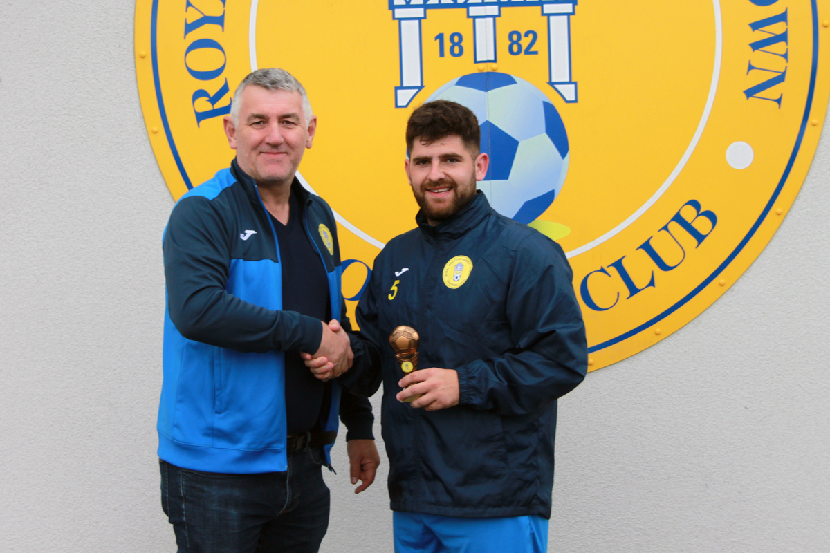 Royal Wootton Bassett Town 2020-21 Players' Player of the Year Sam Ockwell (Credit: )