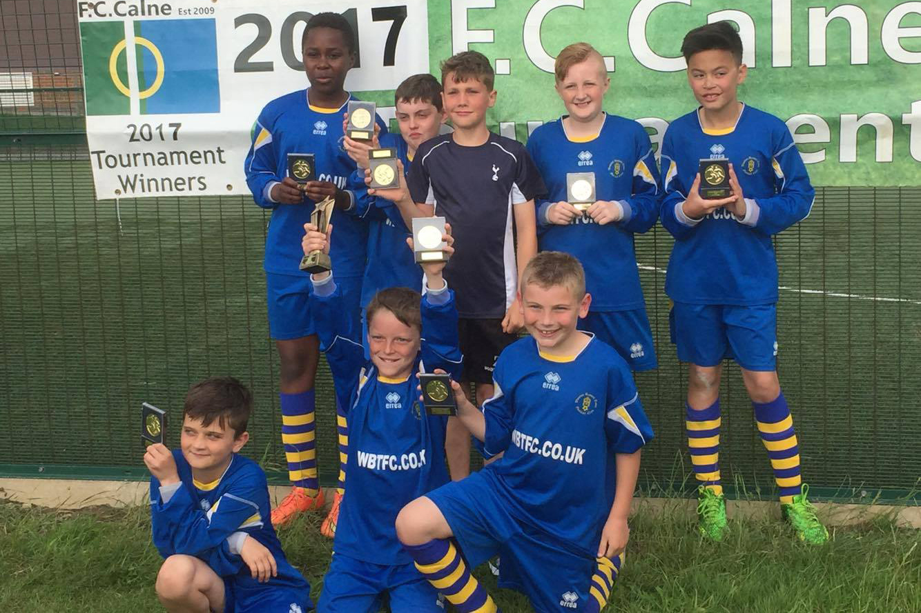 Victorious Under 11 Blues team at FC Calne's tournament