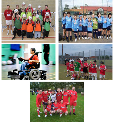 Disability football action shots