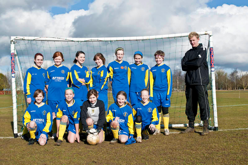 Under 14 Girls 2010/2011 Team Photo