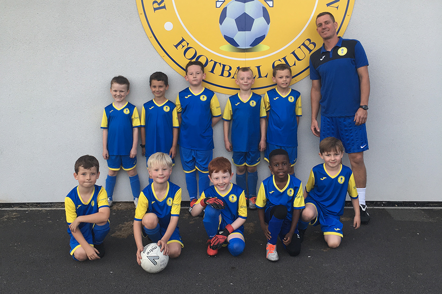 Under 8 Yellow Team Photo