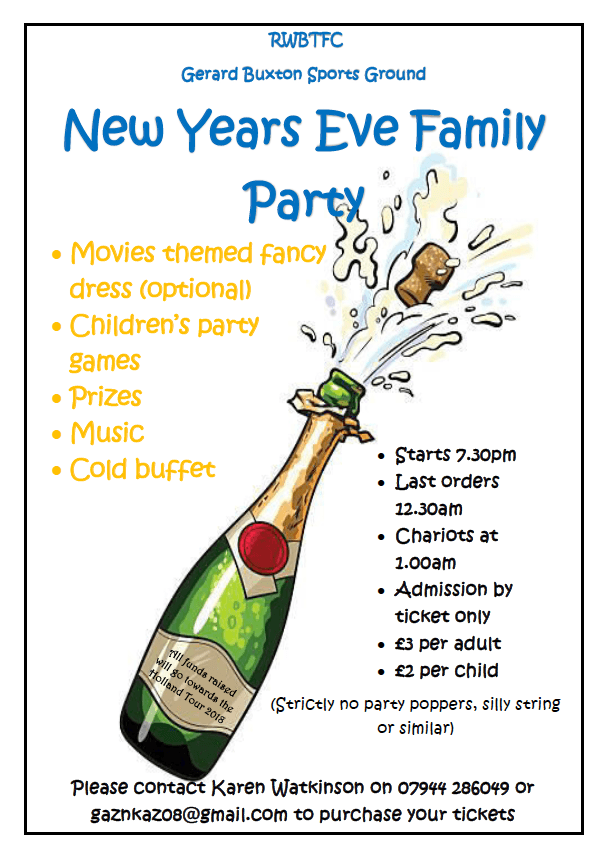 New Year's Eve Family Party Poster